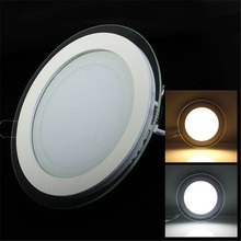 Hotest! Recessed LED Panel Light Glass Edge 3D LED Ceiling Downlight with driver AC85-265V Warm White/Cold White 20pcs/lot
