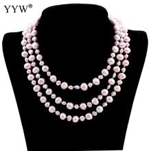 Buy Natural Real Purple Freshwater Pearl Necklace Jewelry 122cm Long Sweater Chain Pearl Necklace Wedding Bridal Gift for $15.41 in AliExpress store