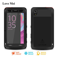 Love Mei Powerful Metal Aluminum Case Cover For Sony Xperia X Performance F8131 F8132 Armor Shell Water/Shock/Rain Proof Housing