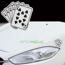 Card Game Poker Royal Flush Lucky Car Drift Turbo Euro Fast Vinyl Decal Sticker