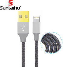 Suntaiho For Lighting Fast Charger Adapter Cable 24K Metal Original USB Cable For iphone X 8 7 6 S Plus Iphone 5 5s ipad air2(China)