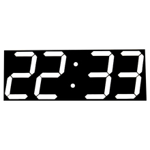 CHkosda 2017 Multifunction 3D Wall Clock Display Time 16 Groups Alarm Temperature Calendars Countdown Modern Design New(China)