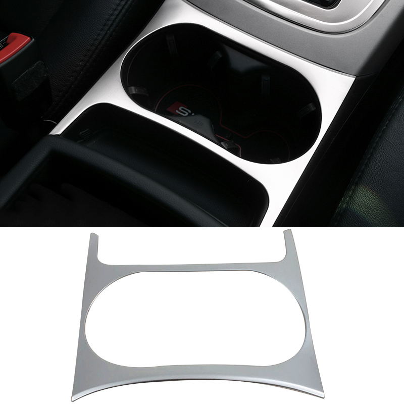 2016 Stainless Steel Car Styling Cup Holder Panel Sequins Cover Decorative Frame Sequins Cover  For Audi Q5<br>