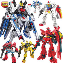 LOZ Gundam Blocks DIY IROBOTS Mini Educational Building Toys Cartoon Children Gifts Kids 9350 - Elimi Company store