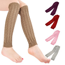 Women Ladies Winter Warm Leg Warmers Cable Knit Knitted Crochet Socks Chaussettes Inverno Quente Moda de Nova Mulheres meias