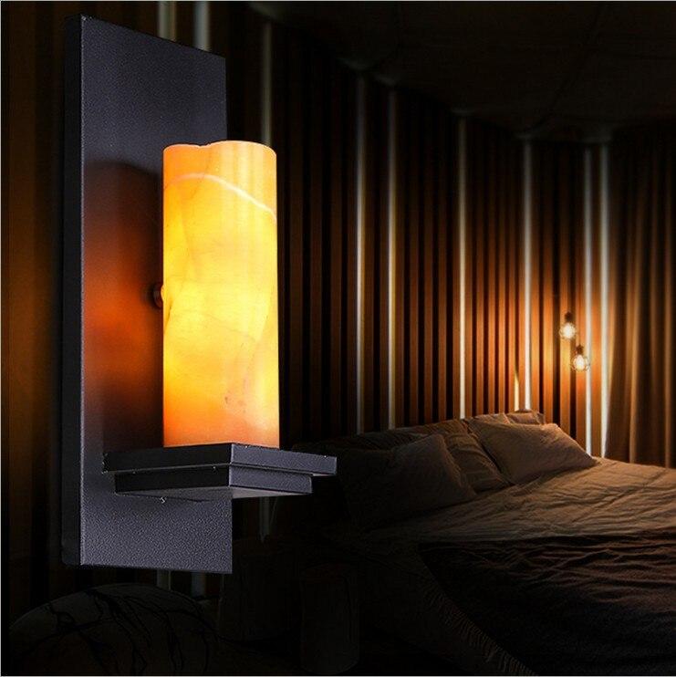 Nordic loft Vintage industrial lighting designer style rural natural marble hallway wall lamp Cafe Restaurant lights decorations<br><br>Aliexpress