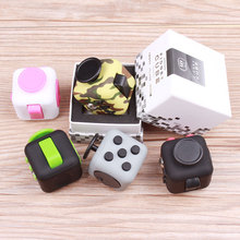 Hot Hand Magic Fidget Cube Toys Desk Finger ABS Relieves Anti-stress Cubes Mini 6 Sides Puzzle Dice Playing Squeeze Fun Cubes
