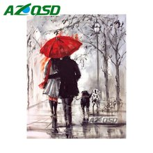 AZQSD Diamond Embroidery Needlework Set Red Umbrella  Home Decor Painting DIY Full Square Diamond Painting Cross Stitch bb4185