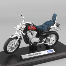 1:18 scale miniatures Child's Honda Steed 600 motorcycles Motorbike metal Car styling bike model Die cast toys vehicle for boys(China)
