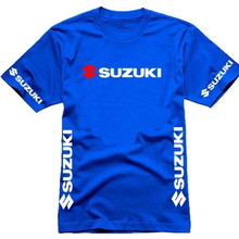 summer Wholesale Men Suzuki Motorsport Team Logo T-shirt Cotton Short Sleeve O-neck T shirt Size -XXL
