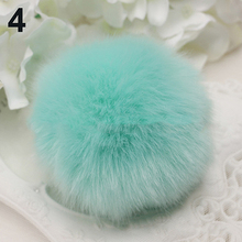 Soft Faux Rabbit Fur PomPom Keychain Handbag Cell Phone Pendant Charms Key Ring