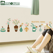 Factory Direct Vase Baseboard Wall Stickers Korea Creative Diy Home Decoration Wall Stickers