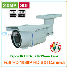 Lihmsek HD SDI camera 1080P 2.0MP CMOS sensor digital security camera Outdoor SDI cam 42IR 2.8-12MM HD-SDI Bullet cctv camera(China)