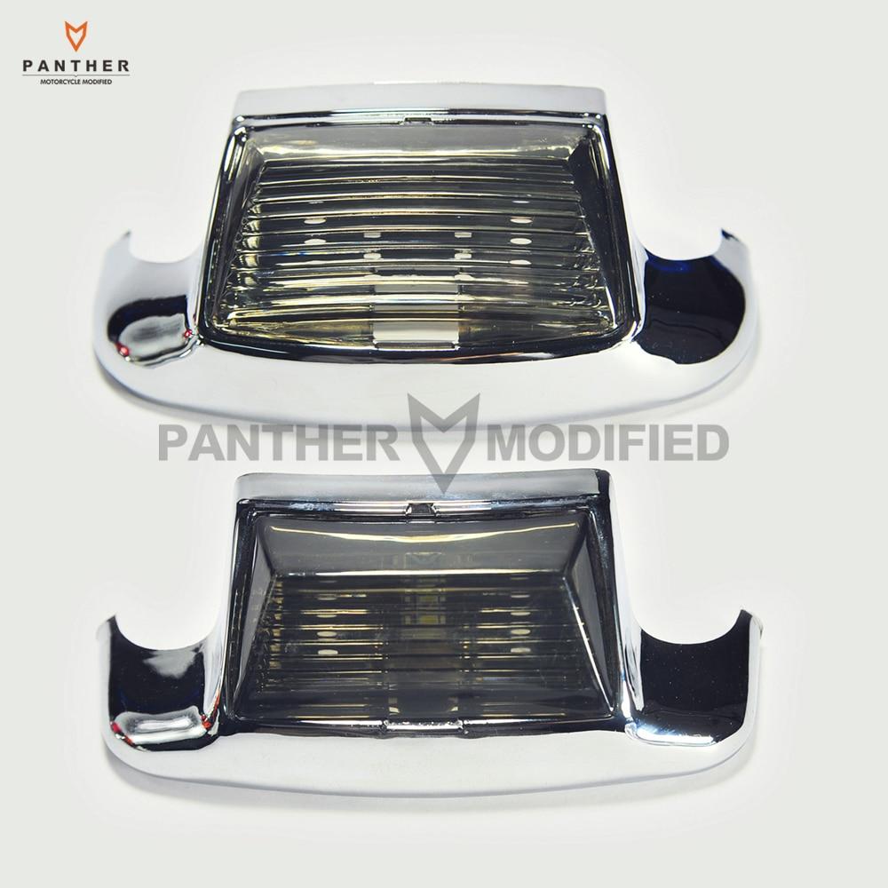 2 Pcs Smoke Motorcycle Front / Rear Fender Tip Light Lens case for Harley FLHT Electra Glide Standard<br>