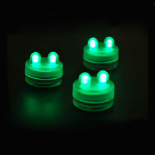 2LED Submersible Tea Light Waterproof Underwater Candle for Xmas Wedding Mini Light 1PC