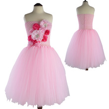 2017 fashion girls hand-made purple pink tutu dress kids tulle dresses 2t to kd 8 little flower girl tutu wedding dress