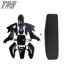 TDR Black Flat Tall Seat + Plastics Plastic Fender for Honda CRF 50 XR50 Dirt Pit Bike HHY(China)