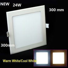 24W LED ceiling recessed grid downlight / square panel light 300mm, 1pc/lot free shipping
