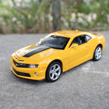 1:32 Scale Chevrolet camaro Bumblebee Alloy Diecast Car Model Pull Back Toy Car model Electronic collectible Car Kids Toys