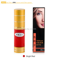 Hao Tattoo JX23 Bright Red Eyebrow Permanent Makeup Pigment Vacuum Sterile Cosmetic Tattoo Ink 45ml Makeup Supplies
