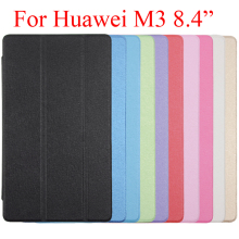 "3 Folds Super Slim Clear Back Cover Case For Huawei M3 8.4"" Tablet, For Huawei MediaPad M3 Pad M3 8.4 inch Protector Case Bag"