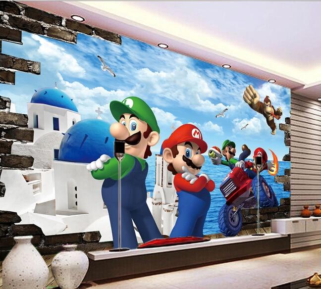Custom large 3d murals,3D childrens room fairy tale world wallpaper,living room tv wall children room wallpaper.<br><br>Aliexpress