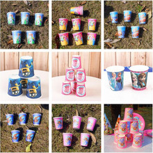 Paper Cups Cartoon Pawed Patrol Dog Kids Birthday Party Party Decoration Kids Supplies Favors Frozen Paper Cup Drink 10Pcs/lot