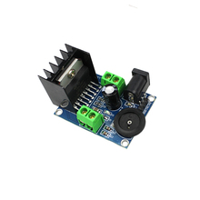 Free shipping 1Pcs Audio Power Amplifier DC 6 to 18V TDA7297 Module Double Channel 10-50W Wholesale