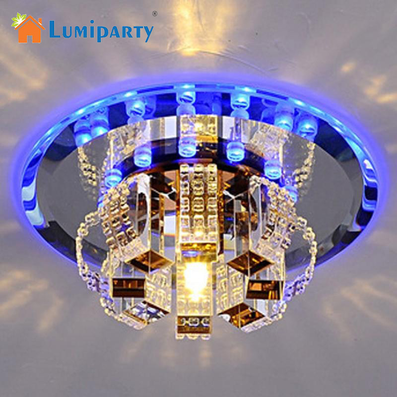 Modern Crystal Chandelier Round Ceiling Lamp for Bedroom, Bathroom, Dining Room(White Light, Warm White Light)<br>