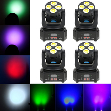 DMX512 Master-Slave Disco Lighting Led Stage Light Dj Christmas UV 6 IN1 Washing Effect Moving Head Stage Light Party Projector(China)