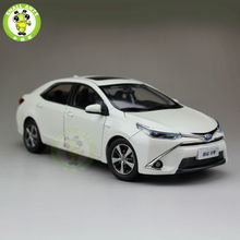 1:18 Toyota Levin Corolla HEV Hybrid Diecast Car Model White Color(China)
