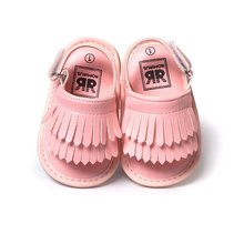 7 Color Newborn Baby Girl Sandals Summer Newborn Casual Fashion Baby Girl Children Sandals PU Fringed Shoes Baby Sandals(China)