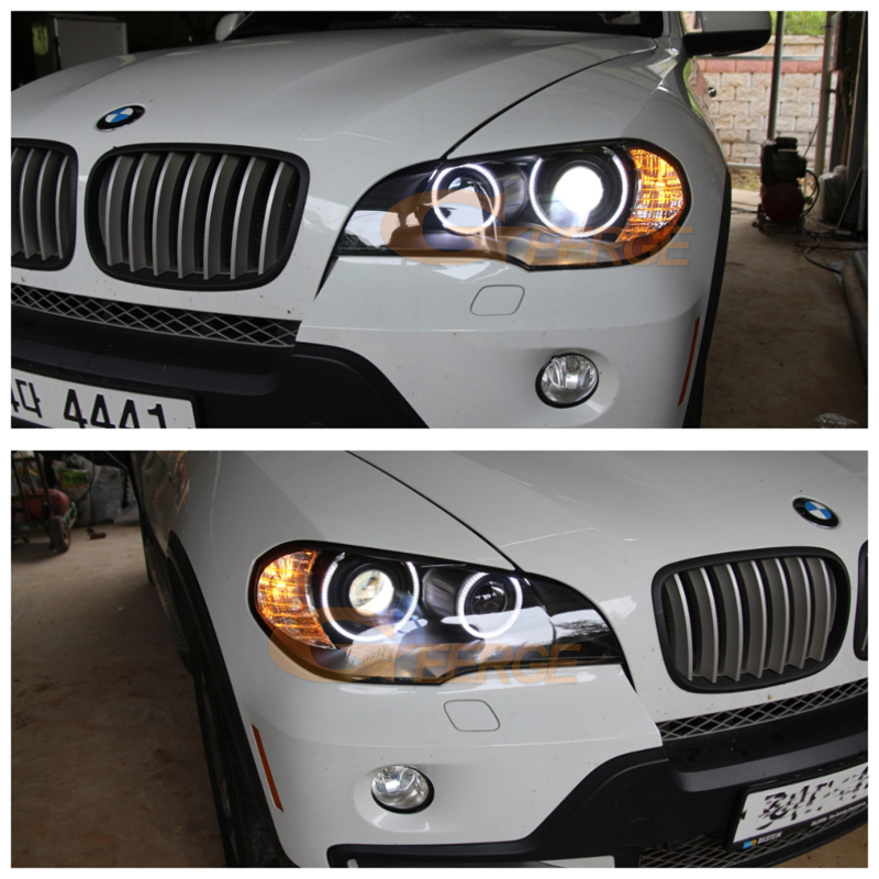 BMW X5 e70 2007 2008 2009 2010 Xenon headlight smd led angel eyes(30)