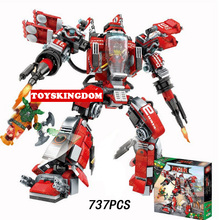 2017 ninja movie Kai Blood evil mecha robot go building block model sky pirate Nadakhan figures bricks toys boys gifts - ToysKingdom store