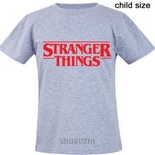 men t shirts stranger things top tees summer style boys tee-shirt 2018 new brand tshirts child size xmas present tops(China)