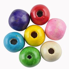 LNRRABC 12mm/14mm/16mm Mix color DIY/Handmade Round Ball Natural Wood Beads for Jewelry Making Wholesale  Free Shipping