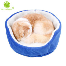 Soft Pet Bed for Small Dogs Beds Teacup Bichon Puppy Kitten Bed Basket Dog House Guinea Pig Rabbit Warm Home Pet Cat Nest Cheap(China)