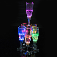 Drink LED Light Flashing Light Champagne Champagne Beer Wine Glass Drink Cup Induction luminous Liquid Juice Glass Cup Container(China)