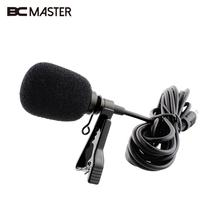 BCMaster Portable Mini MIC External Clip-on Lapel Lavalier Clip Microphone microfone lapela yaka mikrofonu For Phone Recording
