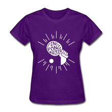 Womens Ping Pong Master Cool short sleeve T Shirts cotton Purple