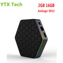 [T9Z Plus] Full HD Media Player 4K Support BT 4.0 2GB DDR3 16GB Octa Core 5.0G Wifi  Smart Android 7.1 Amlogic S912 TV Box