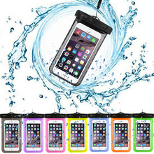 Hot sale! Transparent Waterproof Underwater Pouch Dry Bag Case Cover For FLY IQ455 Cell Phone Touchscreen Mobile Phone(China)