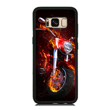 Cool Fire Motorcycle Paint Soft Rubber Cell Phone Case OEM For Samsung Galaxy S8 S8 Plus S7 S6 Edge S5 Hard PC Back Cover Skin