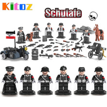 2017 WW2 World War 2 German Leibstandarte SS AH Panzer Division Guard Army Military Building Blocks Collection Small Toy Figure