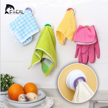 FHEAL 2Pcs Wash Cloth Clip Holder Dishclout Storage Rack Bath Room Stand Towel Rack(China)