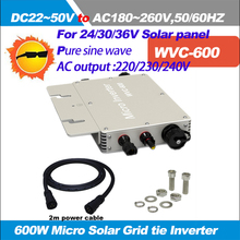 Hot sales!!!WVC-600W Solar Micro Grid on Inverter Input DC22V-50V to AC180-260V,50HZ Waterproof Solar Inverter with IP67(China)