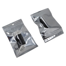 8*14cm Self Seal Zipper Mylar Aluminum Foil Clear Bag Plastic Ziploc Valve Party Packing Bag Pouch Retail Packaging W/ Hang Hole