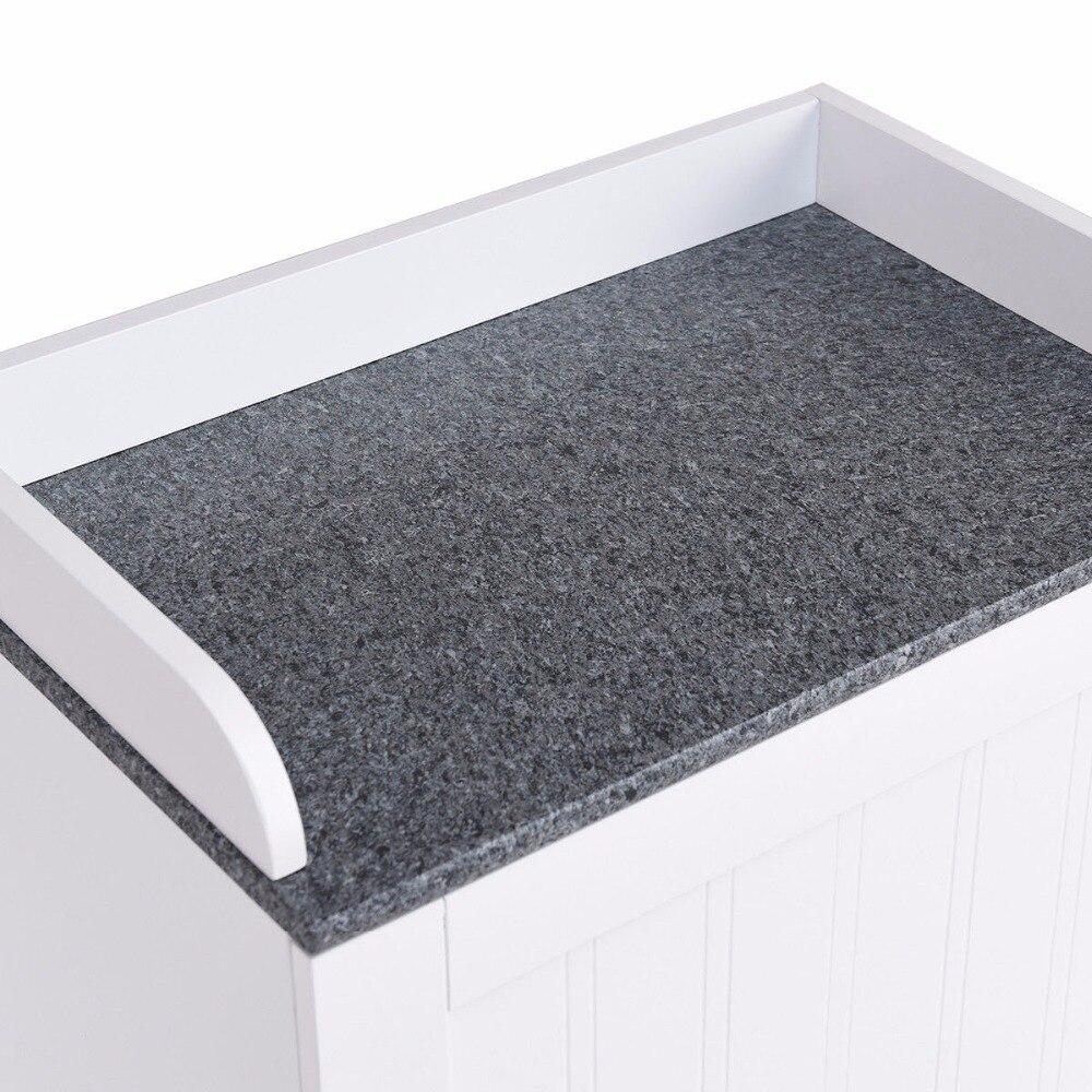 Giantex Bathroom Floor Storage Cabinet Freestanding Adjustable Shelves W/Single Door NEW Modern Bathroom Furniture HW57076 9