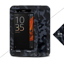 For xperia xz case Original LOVE MEI Camouflage Extreme Powerful Cover For SONY Xperia XZ ShockProof Dirtproof Metal cool case(China)