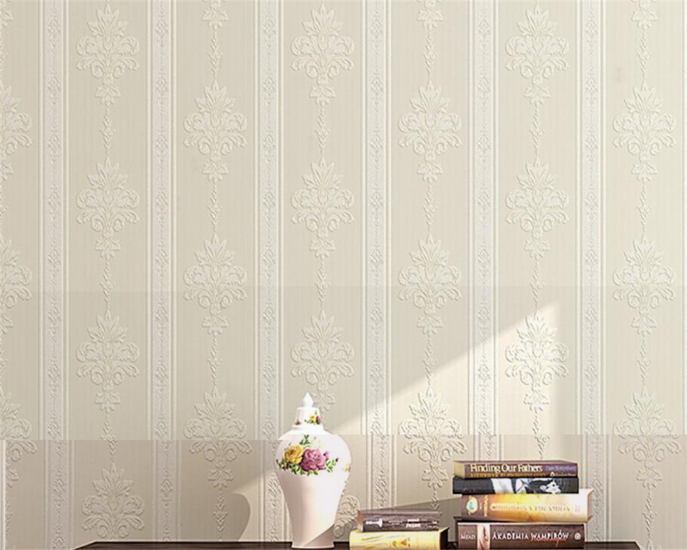 Beibehang  Blue beige white 3D wallpaper European living room background wallpaper warm 3D vertical striped wallpaper behang<br>